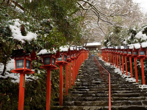 冬・積雪 貴船神社(京都市左京区)